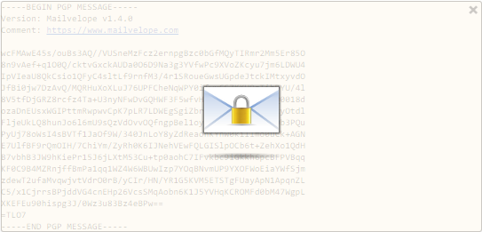 Mailvelope-encrypted message.